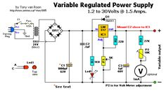 Variable Power Supply Electrical Projects, Electrical Engineering, Arduino Projects, Electronics Projects, Electrical Circuit Diagram, Power Supply Circuit, Dc Circuit, Electronic Schematics, Voltage Regulator