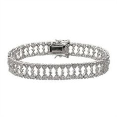 Lola's Fancy Heart CZ Bracelet is a comfortable, affordable, and high fashion style. It's perfect for weddings, proms, or just jeans and a tee!