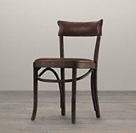 good lines - Vienna Cafe Side Chair Antiqued Whiskey Leather Black Dining Room Chairs, Dining Table Chairs, Side Chairs, Office Chairs, Black Chairs, Leather Restoration, Restoration Hardware, Vienna Cafe, California Decor