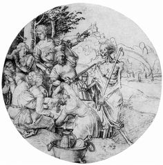 Soldiers by Albrecht Durer. Northern Renaissance. genre painting