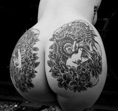 20 beautiful, hilarious & ridiculous Butt Tattoos