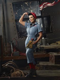 Awesome pic of Chris jennar as Rosie The Riveter
