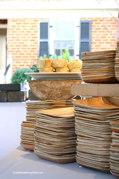 Bamboo Plates | Outdoor Party Ideas