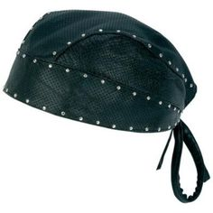 0081acdbc486e Diamond Plate Perforated Leather Motorcycle Biker Skull Cap with Studs  comes in a solid color of