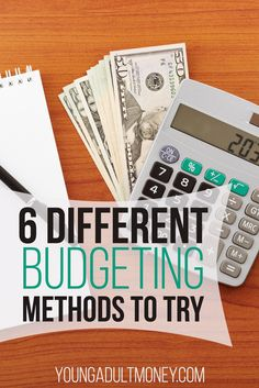 Have you felt frustrated with trying to budget your money? There are many different budgeting methods to try. If one doesn't work for you, don't be afraid to try another until you find something that fits your lifestyle. Here are six ways you can budget! via @YoungAdultMoney