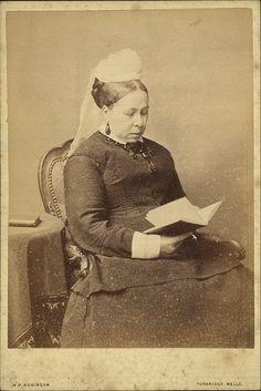 Ca. 1870 widow wearing her indoor white cap.