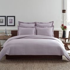 Real Simple® Clip N Zip Reversible Duvet Cover in Orchid - BedBathandBeyond.com