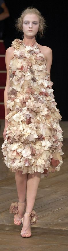 """Alexander McQueen Spring 2007 """"And the LORD said to Moses, """"Go to the people and consecrate them today and tomorrow. Have them wash their clothes."""" Exodus 19:10"""