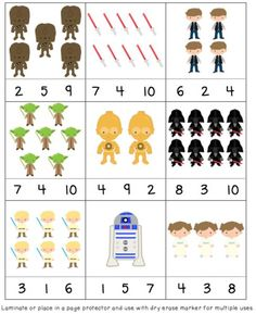 Star Wars Day! May the 4th be with you! Fun printables for an easy, quick activity. |Skills: numbers, letters|