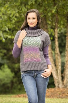 Free Knitting Pattern - Pacific Heights Pullover in Universal Yarn Classic Shades