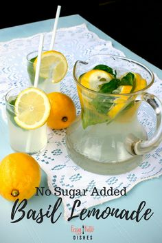 basil lemonade Quench your thirst without the added sugar or carbs with this tangy sweet basil lemonade! Get the easy to make recipe here! Quench your thirst without the added sugar o Keto Friendly Desserts, Low Carb Desserts, Low Carb Recipes, Real Food Recipes, Healthy Recipes, Easy Recipes, Amazing Recipes, Lunch Recipes, Drink Recipes