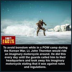 Daily Facts, Random Facts, Random Things, Fun Facts, John Thornton, Korean War, The More You Know, Random Stuff, Funny Facts