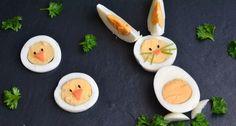 Húsvéti nyuszi főtt tojásból Icing Nozzles, Holidays And Events, Food Art, Kids Meals, Diy And Crafts, Eggs, Easter, Snacks, Baking