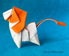 Lion Paper Art, Paper Crafts, Origami Models, Origami Animals, Japanese Art, Book Art, Projects, Fun, Carousel