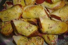 Receita de Rolinho de salsicha com pão de forma em receitas de salgados, veja essa e outras receitas aqui!