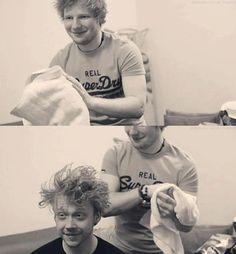 Rupert Grint and Ed Sheeran!