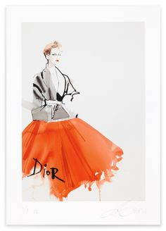 David Downton - Dior Couture S/S 2011 / Fashion Illustration Gallery