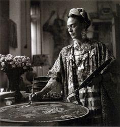 Frida Kahlo at work