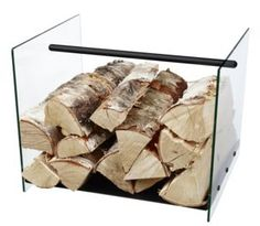Attractive and stylish firewood basket.