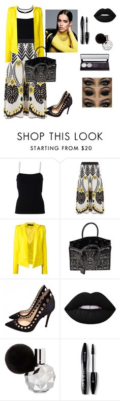 """Untitled #217"" by babis117 ❤ liked on Polyvore featuring T By Alexander Wang, Temperley London, Alexandre Vauthier, Charlotte Russe, Yves Saint Laurent, Gianvito Rossi, Lime Crime and Lancôme"