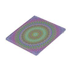 Mandala explosion glass coaster $14.31 *** Colorful geometric floral mandala design - coaster
