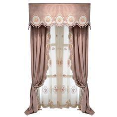 别墅大气飘窗帘客厅卧室高档豪华绒布欧式窗帘成品韩式女生卡普尔