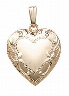 This timeless 14K Gold Filled Heart Locket with beautiful delicate filigree is a stunning pice of jewelry. #valentinesgiftsforher
