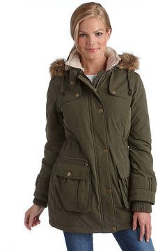 DKNY Plus Faux-Fur Hooded Anorak Jacket on shopstyle.com