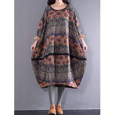 Hot saleGracila Vintage Women Two Pieces Set Straps Print Dresses Cheap - NewChic Mobile.