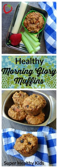 Fast Healthy Breakfast Recipes : Illustration Description We gave classic Morning Glory Muffins a makeover to include more whole grains, less sugar, and all the fruits, veggies, and nuts that make the original famous. Morning Glory Muffins, Fast Healthy Meals, Healthy Snacks, Healthy Recipes, Clean Eating Snacks, Healthy Eating, Healthy Breakfast Muffins, Breakfast Ideas, Eat Breakfast