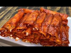 Enchiladas, Mexican Dishes, Mexican Food Recipes, Chicken Wings, Pork, Meat, Youtube, World, Types Of Chili Peppers