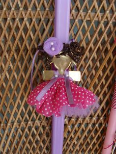 Girly Easter candle - brooch