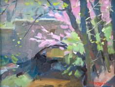 "Troy Kilgore | ""Spring over the Jordan River"" was painted on the campus of Indiana University."