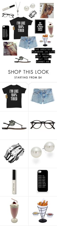 """At the Local Cafe After Hell"" by athena-queen ❤ liked on Polyvore featuring RE/DONE, Valentino, AK Anne Klein, Bobbi Brown Cosmetics, Creative Home and Americanflat"