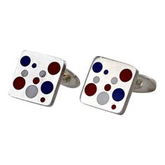 "Georg Jensen ""Domino"" Cufflinks 