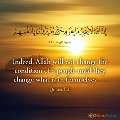 May Allah give us the ability to make positive changes Quran Arabic, Islam Quran, Mental Problems, Positive Changes, Daily Wisdom, All About Islam, Islamic Love Quotes, Divine Mercy, Holistic Approach
