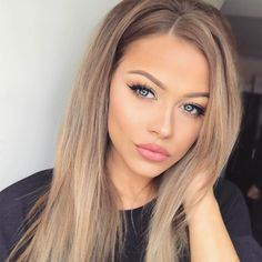 Blonde Wigs Lace Hair Dark Hair With Blonde Highlights Brown Hair Shades, Light Brown Hair, Brown Hair Colors, Blue Eyes Hair Color, Cheap Human Hair Wigs, Real Hair Wigs, Frontal Hairstyles, Wig Hairstyles, Stylish Hairstyles
