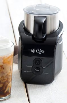 Thanks to the Mr. Coffee Milk Frother I get to be artsy while making my favorite - an iced cappuccino.