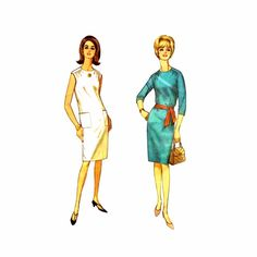 1960s Shift Dress Simplicity 6264 Vintage Sewing Pattern