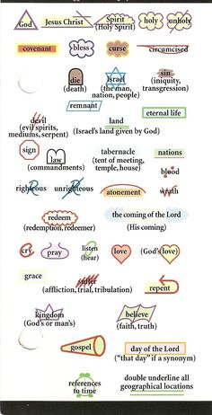 Kay Arthurs precepts bible study symbols. Perfect! Good to have because I've somehow lost mine