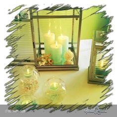 Showcasing Large Resort Lantern and Cucumber Ginger Mint Pillars. Cucumber, Lanterns, Candle Holders, Fragrance, Mint, Independent Consultant, Candles, Mirror, Home Decor