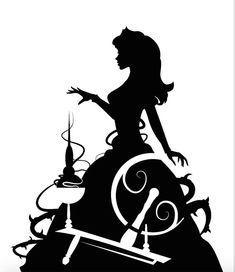 Machine Silhouette Portrait, Silhouette Cameo 4, Disney Silhouette Art, Princess Silhouette, Silhouette Projects, Silhouette Design, Disney Crafts, Disney Trips, Disney Love