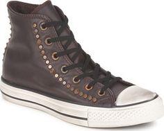 Converse All Star Studded Hi leather Καφέ σκούρο 140010C