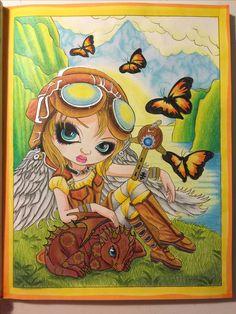 Clockwork Dragonling - Jasmine Becket-Griffith  Watercolor pencil, prismacolor premier, gel pens.