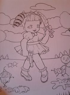 12 Melanie Martinez Coloring Page Cry Baby Coloring Book, Letter B Coloring Pages, Star Wars Coloring Book, Printable Adult Coloring Pages, Coloring Books, Melanie Martinez Coloring Book, Melanie Martinez Drawings, Enchanted Forest Book, Enchanted Forest Coloring Book