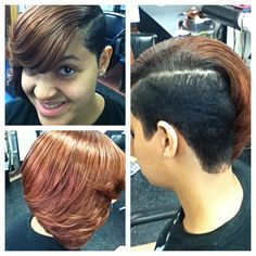 Partial quick weave with cut