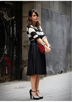Midi Skirt & Tango Shoes by Collage Vintage