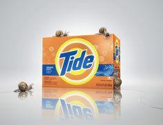 Ilustración 3D  - Tide  - Desarrollo integral de imagen hiper-realista 3D.