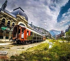Abandoned railway station of Canfranc (Spain) - Constructed in 1923 for transport between Spain and France, the railway was abandoned in 1970 when a train demolished a bridge on the route to the station. It was too expensive to rebuild it and so the railway has taken its place in history. Want to discover more hidden gems in Europe? All of them can be found on www.broscene.com