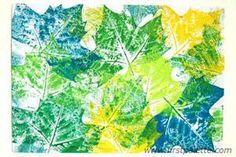 Leaf Prints craft